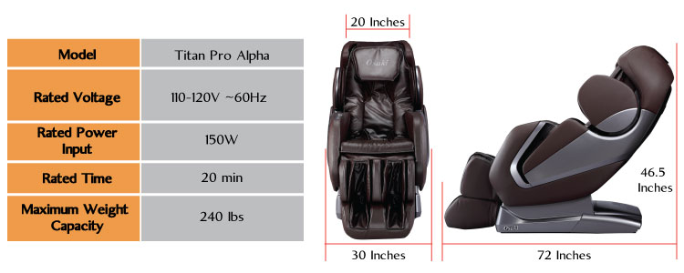 Titan massage chairs, Titan pro alpha