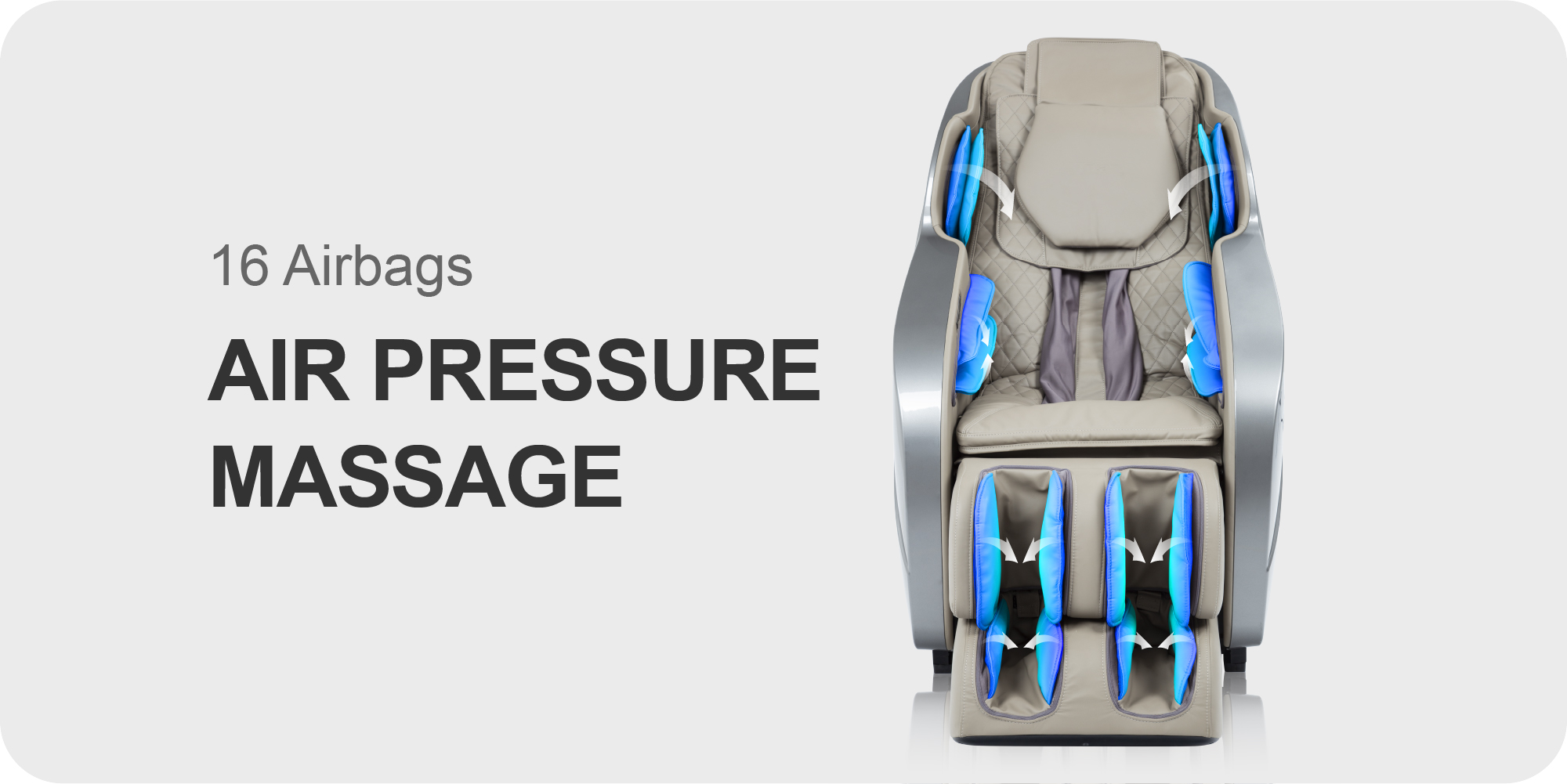 16 Airbags Air Pressure Massage
